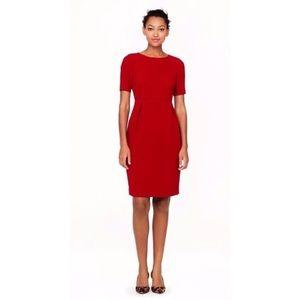 J.Crew Allie Red Crepe Short Sleeve Dress.